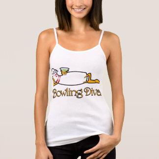 T-shirt de diva de bowling pour Madame Bowlers