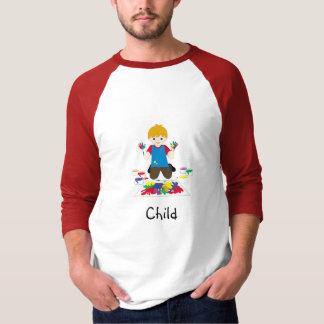 T-shirt de doigt-peinture d'enfant