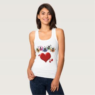 T-shirt de dos de coureur d'amour de bingo-test