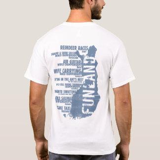 T-shirt de dos de la liste 3 de la Finlande