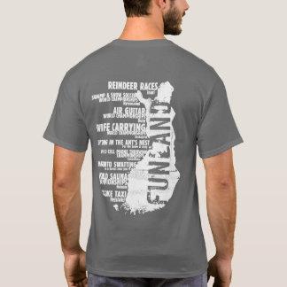 T-shirt de dos de la liste 4 de la Finlande