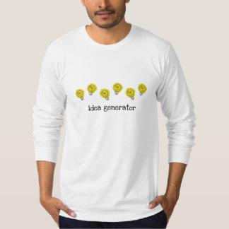 T-shirt de douille d'ampoules de générateur d'idée