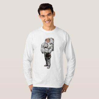 T-shirt de douille de bouledogue de l'espace long