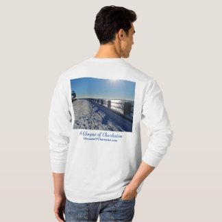 T-shirt de douille de Charleston de ski long --