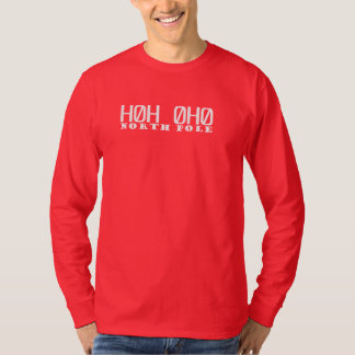 T-shirt de douille de code postal de Pôle Nord
