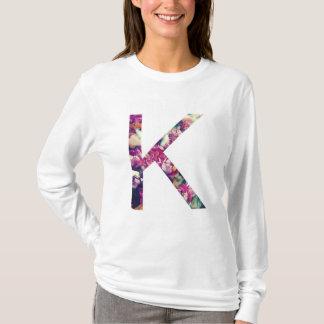 T-shirt de douille de conception florale