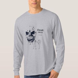 T-shirt de douille de coup-de-pied de la mort long