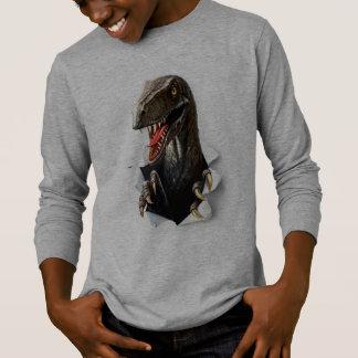 T-shirt de douille de dinosaure de Velociraptor