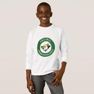 T-shirt de douille de logo de cercle d'Encinal
