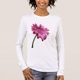 T-shirt de douille de marguerite de Gerbera long