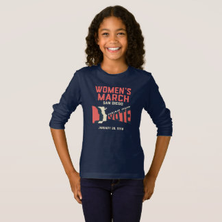 T-shirt de douille de mars San Diego des femmes