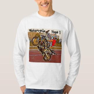 T-shirt de douille de yoga de moto long