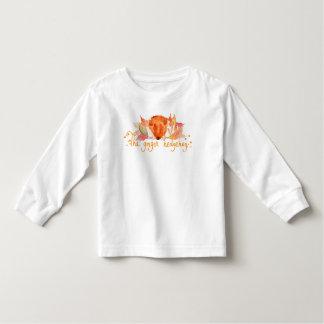 T-shirt de douille d'enfant en bas âge d'aquarelle