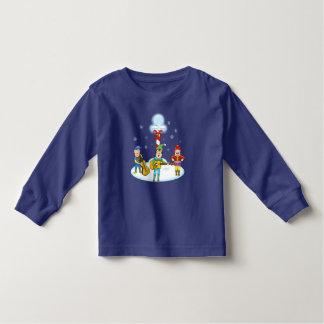 T-shirt de douille d'enfant en bas âge d'elfes de