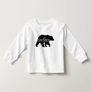 T-shirt de douille d'ours de frère long