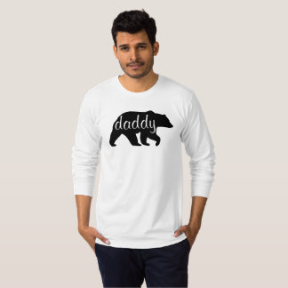 T-shirt de douille d'ours de papa long