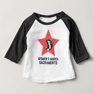 T-shirt de douille du bébé 3/4 de mars Sacramento