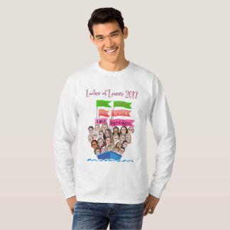 T-shirt de douille du logo de base des hommes long