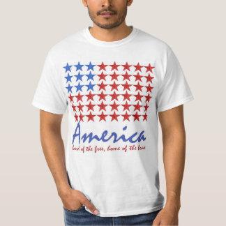 T-SHIRT de drapeau américain 4 juillet