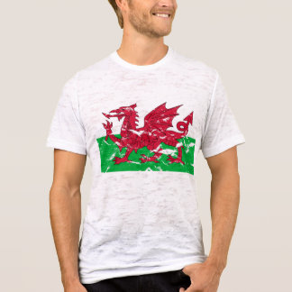 T-shirt de drapeau de Gallois