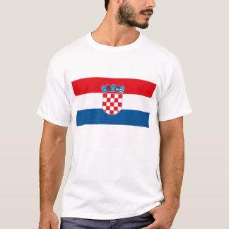 T-shirt de drapeau de la Croatie