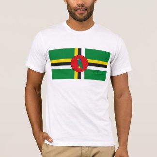 T-shirt de drapeau de la Dominique