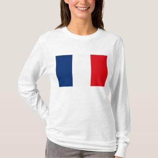 T-shirt de drapeau de la France