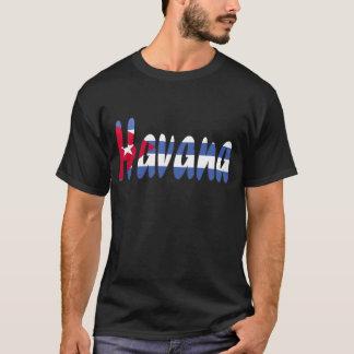 T-shirt de drapeau de La Havane, Cuba