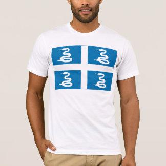 T-shirt de drapeau de la Martinique