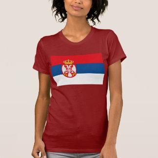 T-shirt de drapeau de la Serbie