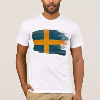 T-shirt de drapeau de la Suède