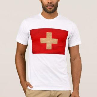 T-shirt de drapeau de la Suisse
