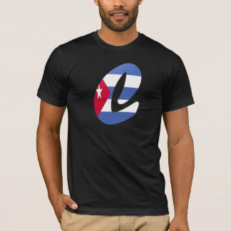 T-shirt de drapeau de monogramme de C (Cuba)