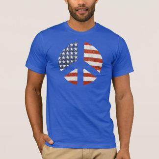 T-shirt de drapeau de paix - signe de paix de