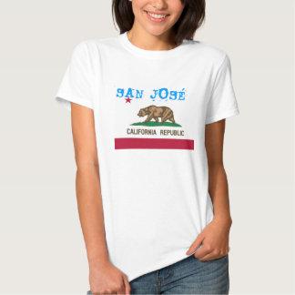 T-shirt de drapeau de San Jose