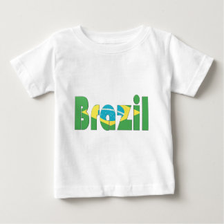 T-shirt de drapeau du Brésil