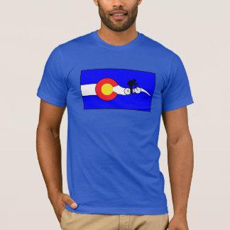T-shirt de drapeau du Colorado du vélo des hommes