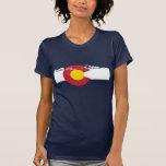 T-shirt de drapeau du Colorado - montagnes rocheus
