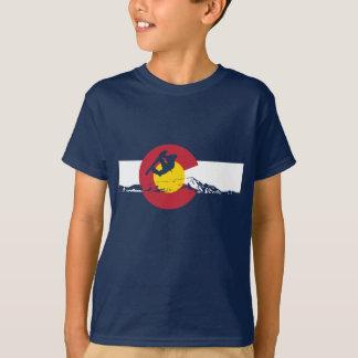 T-shirt de drapeau du Colorado - surfeur - surf