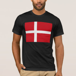 T-shirt de drapeau du Danemark