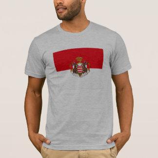 T-shirt de drapeau du Monaco