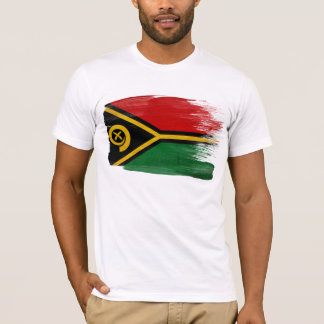 T-shirt de drapeau du Vanuatu