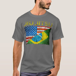 T-shirt de drapeaux de Jiu Jitsu de Brésilien