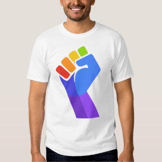 T-SHIRT DE DROITS CIVIQUES DE GAY PRIDE DE POING