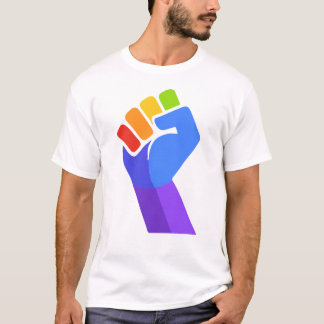 T-SHIRT DE DROITS CIVIQUES DE GAY PRIDE DE POING