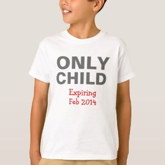 T-shirt de expiration d'enfant unique