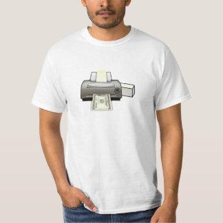 T-shirt de Federal Reserve d'imprimante d'argent