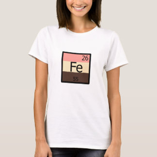 T-shirt de Feedist de Tableau périodique de Fe de