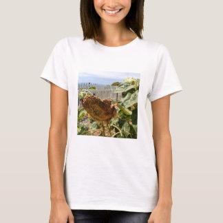 T-shirt de femmes avec la photo du tournesol