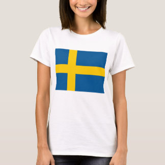 T-shirt de femmes avec le drapeau de la Suède
